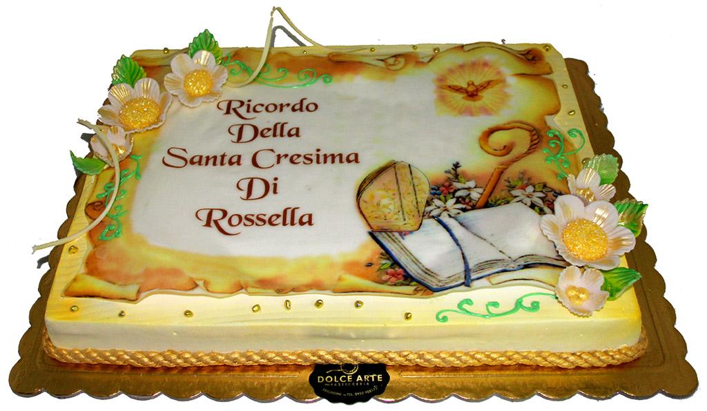 Cresima dolce arte pasticceria for Decorazioni torte per cresima